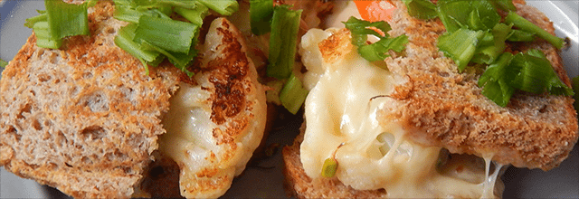 tosty z kalafiorem zdrowy obiad tani pomysły przepisy na
