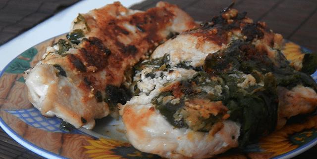 kurczak ze szpinakiem tanie danie