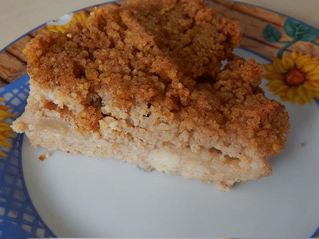 jabłecznik z kaszy jaglanej przepis na zdrowy, słodki deser