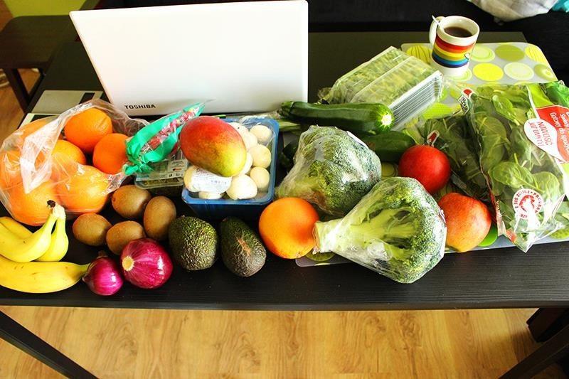 zdrowe zakupy, dużo warzyw