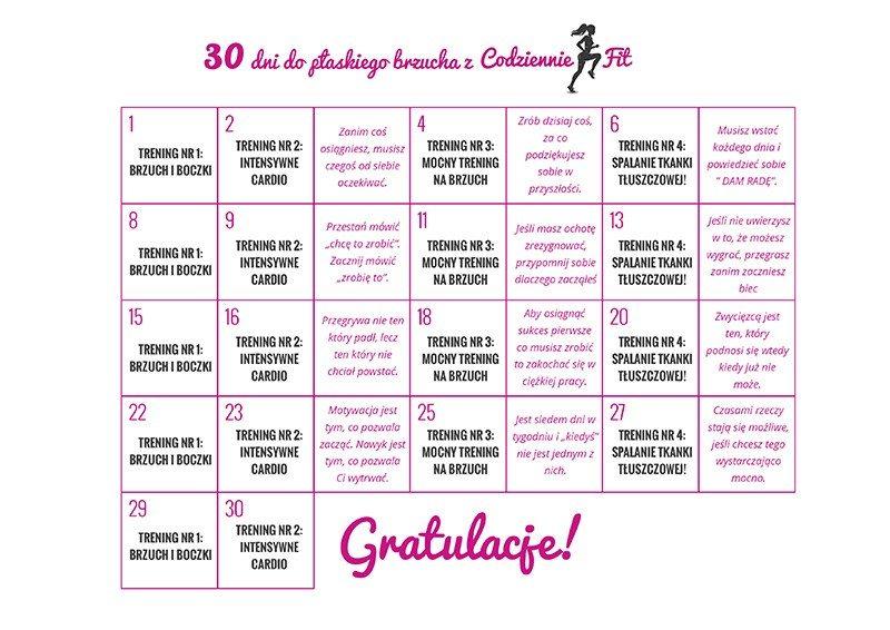 30 dni do płaskiego brzucha z Codziennie Fit