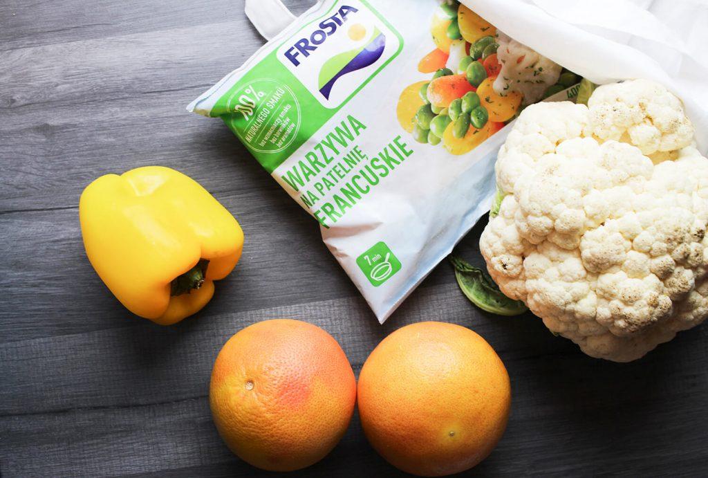 zdrowe zakupy, jak czytać etykiety, warzywa na patelnie frosta
