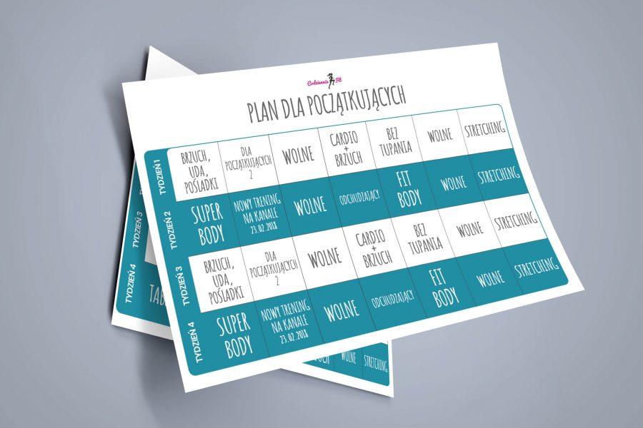 plan treningowy na miesiąc