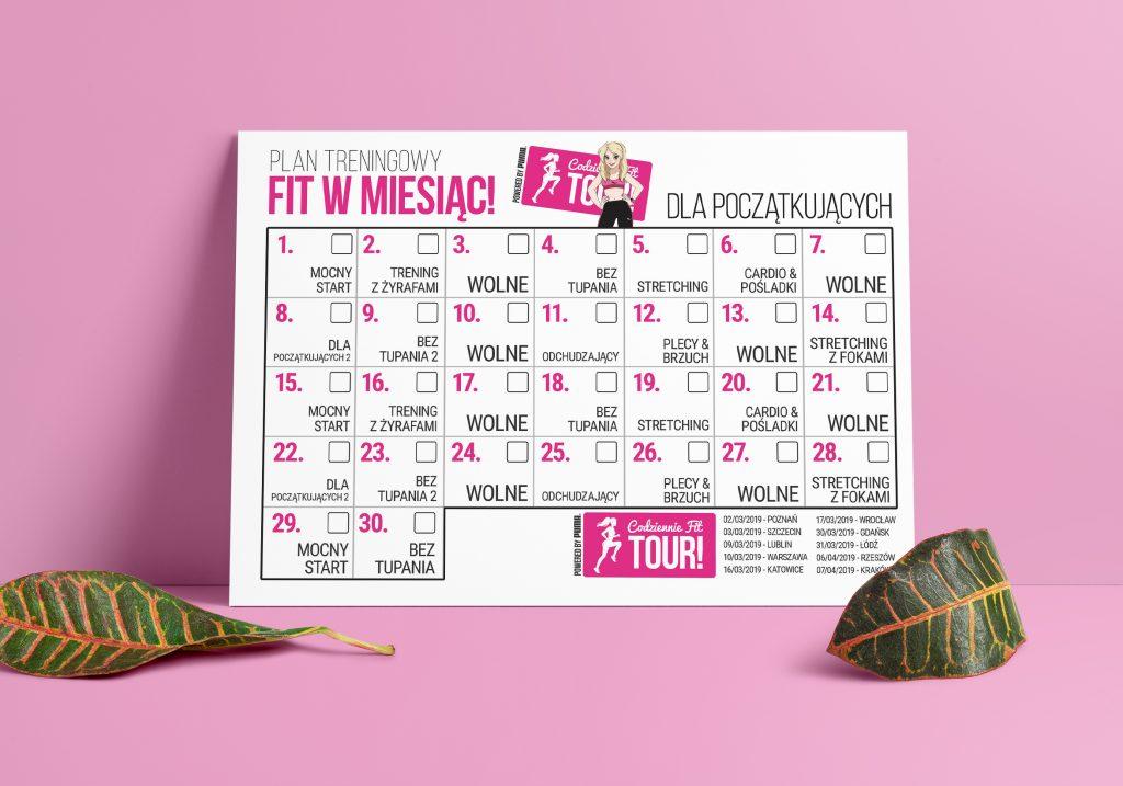 darmowy plan treningowy na miesiąc fit w miesiąc WYZWANIE FIT W MIESIĄC