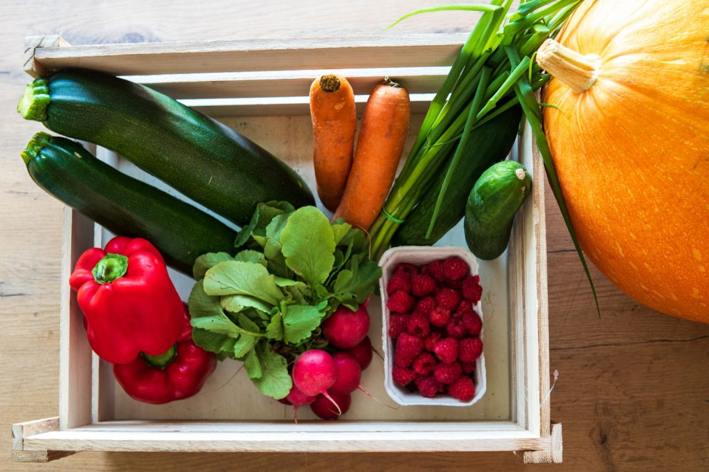 porcje warzyw, cukinia, papryka, rzodkiewki, jak jeść zdrowiej