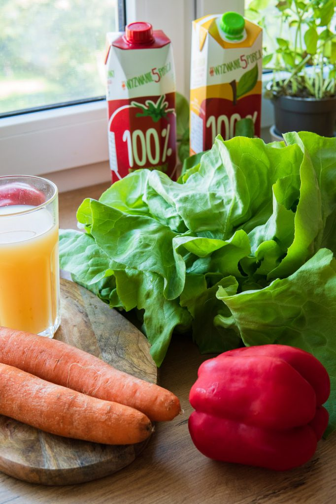 zdrowe soki 100%, warzywa