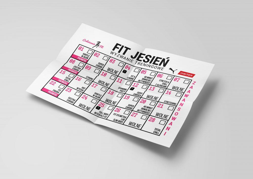 Fit Jesień 2 - plan treningowy, harmonogram ćwiczeń na 4 tygodnie